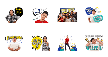 Bang Ijal TV Stickers Line Sticker GIF & PNG Pack: Animated & Transparent No Background | WhatsApp Sticker
