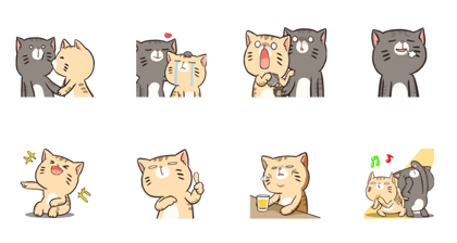Boogy Tamy: Hrhe Line Sticker GIF & PNG Pack: Animated & Transparent No Background | WhatsApp Sticker