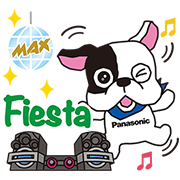 Buldog y Panasonic Sticker for LINE & WhatsApp | ZIP: GIF & PNG