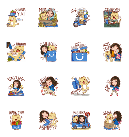 CLARA & Brown Cat Line Sticker GIF & PNG Pack: Animated & Transparent No Background | WhatsApp Sticker