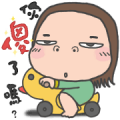 Cha Bao Mei's Best Friend Forever Sticker for LINE & WhatsApp | ZIP: GIF & PNG