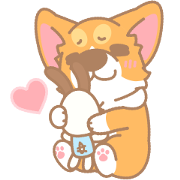 Corgi PonPon: Cute & Healing Sticker for LINE & WhatsApp | ZIP: GIF & PNG