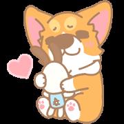 Corgi PonPon: Cute & Healing Sticker for LINE & WhatsApp   ZIP: GIF & PNG
