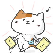 D+AF × Cute Cat Sticker for LINE & WhatsApp | ZIP: GIF & PNG