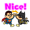DC Super Heroes vs Eagle Talon Sticker for LINE & WhatsApp | ZIP: GIF & PNG