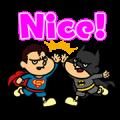 DC Super Heroes vs Eagle Talon Sticker for LINE & WhatsApp | ZIP: GIF & PNG