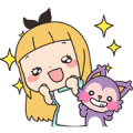 Elissy in Sweets Land 2 Sticker for LINE & WhatsApp | ZIP: GIF & PNG