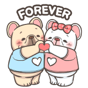 French Bulldog-PIGU IX Animated Stickers Sticker for LINE & WhatsApp | ZIP: GIF & PNG