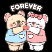 French Bulldog-PIGU IX Animated Stickers Sticker for LINE & WhatsApp   ZIP: GIF & PNG