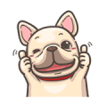 French Bulldog PIGU: Movin' Together 2 Sticker for LINE & WhatsApp | ZIP: GIF & PNG