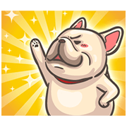 French Bulldog-PIGU: Movin' and Barkin' Sticker for LINE & WhatsApp | ZIP: GIF & PNG