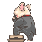 French Bulldog-PIGU V Animated Stickers Sticker for LINE & WhatsApp | ZIP: GIF & PNG