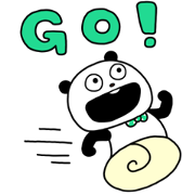 Gokigen panda × SHOPPING GO Sticker for LINE & WhatsApp | ZIP: GIF & PNG