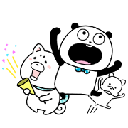Gokigenpanda×Protan & Sally Sticker for LINE & WhatsApp | ZIP: GIF & PNG
