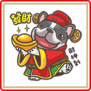 Hanji CNY Stickers Sticker for LINE & WhatsApp | ZIP: GIF & PNG
