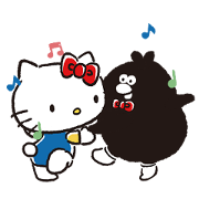 Hello Kitty Meets Ology on the Move Sticker for LINE & WhatsApp | ZIP: GIF & PNG