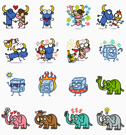KUKUXUMUSU: WELCOME! Line Sticker GIF & PNG Pack: Animated & Transparent No Background | WhatsApp Sticker