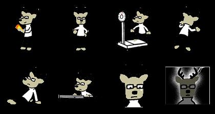 Kakukaku Shikajika - 4346 Line Sticker GIF & PNG Pack: Animated & Transparent No Background | WhatsApp Sticker