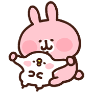 Kanahei's Piske & Usagi Come to Life! 4 Sticker for LINE & WhatsApp | ZIP: GIF & PNG