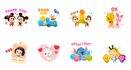 LINE: Disney Toy Company Line Sticker GIF & PNG Pack: Animated & Transparent No Background | WhatsApp Sticker