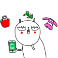 LINE SHOPPING with Jay the Rabbit Sticker for LINE & WhatsApp | ZIP: GIF & PNG