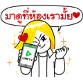 LINE TV Overacting Sticker for LINE & WhatsApp | ZIP: GIF & PNG