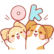 Let's Shake! Puppy Sticker for LINE & WhatsApp | ZIP: GIF & PNG