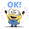 Minions: Cute Animated Stickers Sticker for LINE & WhatsApp | ZIP: GIF & PNG