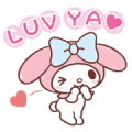 My Melody: Easygoing Cuteness Sticker for LINE & WhatsApp | ZIP: GIF & PNG