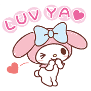 My Melody: Easygoing Cuteness Sticker for LINE & WhatsApp   ZIP: GIF & PNG