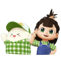 Nong Hom Mali & Nong Hom Jung Sticker for LINE & WhatsApp | ZIP: GIF & PNG