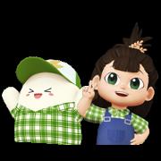 Nong Hom Mali & Nong Hom Jung Sticker for LINE & WhatsApp | ZIP: GIF & PNG