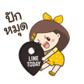 Nong Lotto & Nong Duang D Sticker for LINE & WhatsApp | ZIP: GIF & PNG