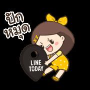 Nong Lotto & Nong Duang D Sticker for LINE & WhatsApp | ZIP: GIF & PNG