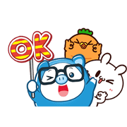 PIGGY GANG:MORE Friends, MORE Fun Return Sticker for LINE & WhatsApp | ZIP: GIF & PNG