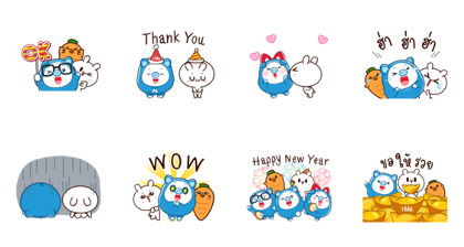 PIGGY GANG: MORE Friends, MORE Fun Return Line Sticker GIF & PNG Pack: Animated & Transparent No Background | WhatsApp Sticker
