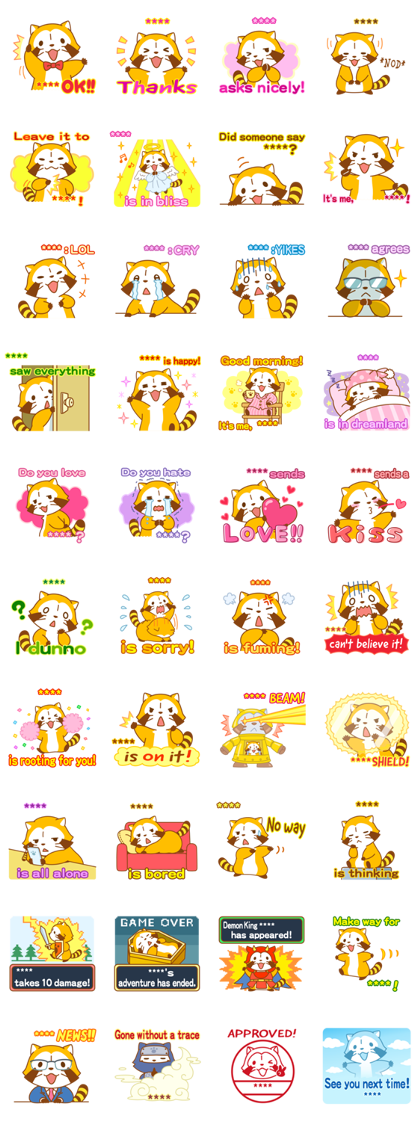 Rascal Custom Stickers Line Sticker GIF & PNG Pack: Animated & Transparent No Background | WhatsApp Sticker