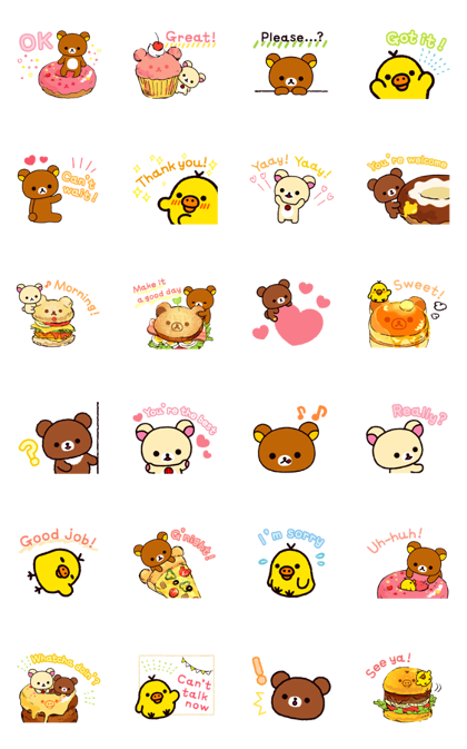 Rilakkuma Everyday Stickers Line Sticker GIF & PNG Pack: Animated & Transparent No Background | WhatsApp Sticker
