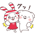 SHIMAMURA × Cute White Dogs Sticker for LINE & WhatsApp | ZIP: GIF & PNG