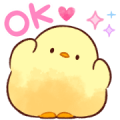 Soft and Cute Chick 3 (Animated) Sticker for LINE & WhatsApp | ZIP: GIF & PNG