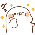 Stinging Tongue Seal × Suntory Sticker for LINE & WhatsApp | ZIP: GIF & PNG