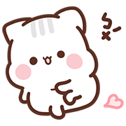 Sweet House: Lazy Kitten Daily Sticker for LINE & WhatsApp | ZIP: GIF & PNG