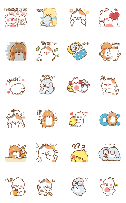 Tonton Friends | Sticker for LINE & WhatsApp — Android, iPhone iOS