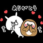 yuruusagi×HABA Sticker for LINE & WhatsApp   ZIP: GIF & PNG