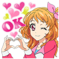 AIKATSU! Talking Stickers Sticker for LINE & WhatsApp | ZIP: GIF & PNG