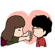 Aida & KiKi: Emotional Stickers Sticker for LINE & WhatsApp | ZIP: GIF & PNG