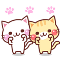 Animated Cats 2 Sticker for LINE & WhatsApp | ZIP: GIF & PNG