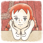 Anne of Green Gables Sticker for LINE & WhatsApp | ZIP: GIF & PNG