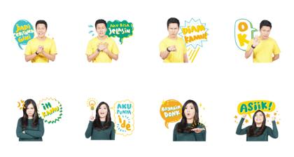 Arief and Tipang Line Sticker GIF & PNG Pack: Animated & Transparent No Background | WhatsApp Sticker