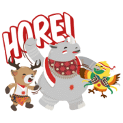 Asian Games: Indonesian Independence Day Sticker for LINE & WhatsApp | ZIP: GIF & PNG